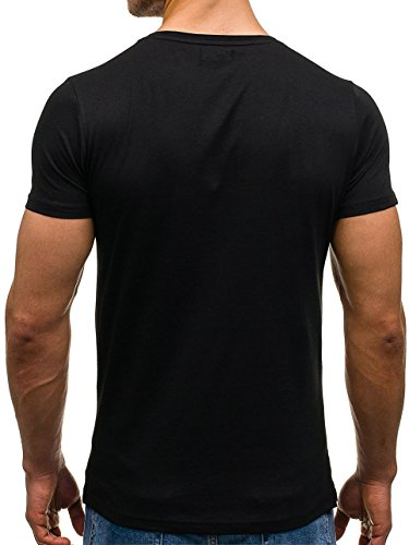BOLF �?T-shirt con Tank Top Party Slim fit Stampa Sport Uomo - Motivo [3C3] Nero