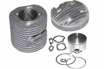 Enfield City County (Lambretta Legierung Aluminium Zylinder Kopf + Barrel + Kolben Replica Kit 225cc -