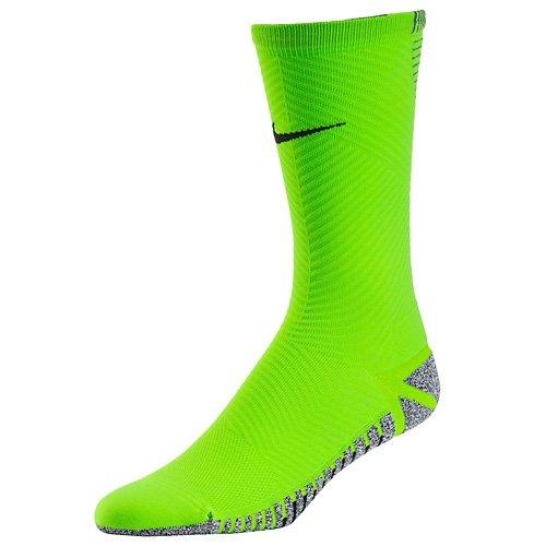 Nike Herren Grip Strike Light Crew Uni Fußballsocken 1 Paar, Elektriches grün/Schwarz, 10-12.5 US/43-46.5 EU - Dri-fit-grün
