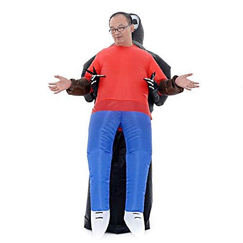 Weehey Vestito Operato Gonfiabile di Esplosione del puntello del Costume del Fantasma degli Adulti gonfiabili per la Prestazione della Fase del Partito di Carnevale di Halloween Cosplay