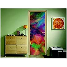 Pegatinas para puerta espejo de colores, L 93cm x H 205cm
