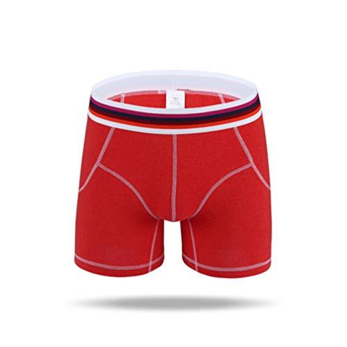 Feidaeu Herren Shorts Sport Unterwäsche Volltonfarbe elastisch super atmungsaktiv weich bequem antibakteriell hautfreundlich Daily Pants
