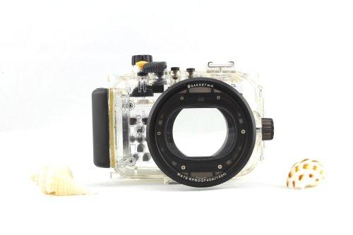 CameraPlus - Unterwasser digitalkamera - Unterwassergehäuse für Canon PowerShot S110 bis 40m Wasserdicht leicht bedienbar