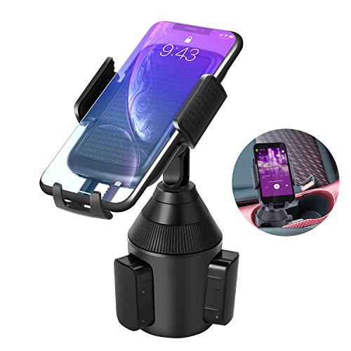 LEXY Handy Autohalterung, Universal für KFZ-Getränkehalter Cup Mount für 360 Grad Drehung Autotassenhalter für Phone Xs Max, XR, X, 8, 7, 6S, Samsung S10 S9 S8 S7 S6, Huawei, LG andere Smartphone