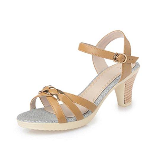Sandals Damen Sommer mit der Ferse mit High Heels 2