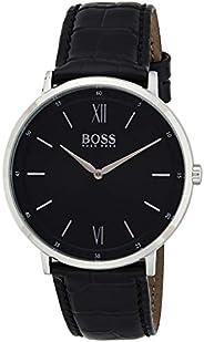 Hugo Boss Mens Quartz Watch, Analog Display and Leather Strap 1513647