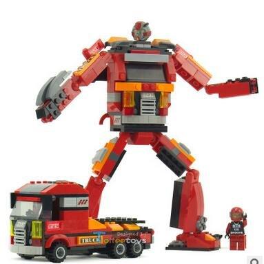 Explorez entzündliche 2en 1de type de Star et diamant forme verändernden Robot King Kong monter monter blocs de construction jouets 30101