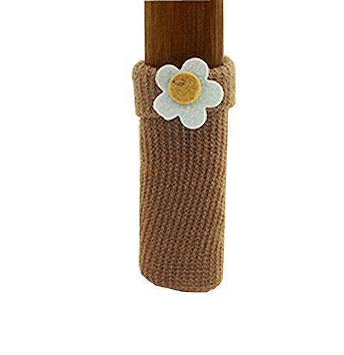 Stuhlbein Bodenschutzmatten-Packung mit 16 Stück Möbel Socken [Tan, Blume] (Tan-hartholz-böden)