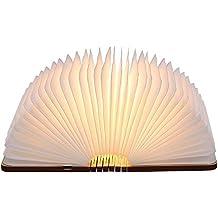 lampada Led a Forma di Libro, Tomshine a Forma di Libro Pieghevole Lampada da Tavolo,Mini Size,1000mAh,USB ricaricabile,500 Lumens Maggiore Luminosità.