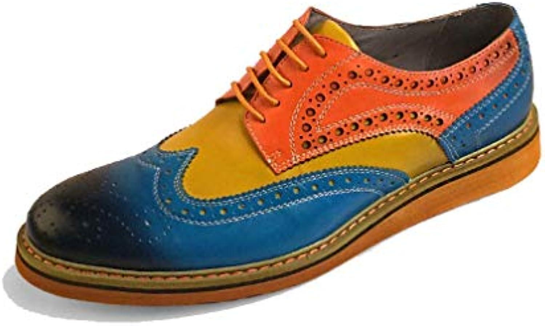 Scarpe Scarpe Scarpe da Uomo Broch Intagliato Inghilterra Casual Escursionismo Allacciatura Confortevole Wearable,blu-arancia-38 | Diversified Nella Confezione  b8b6a5