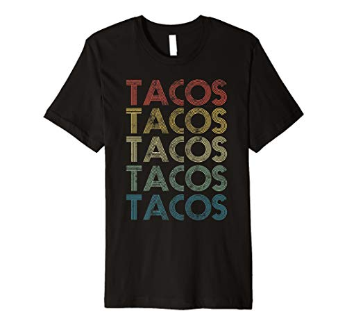 (Taco T Shirt Men Women Retro Vintage Tacos Tuesday Mexican)