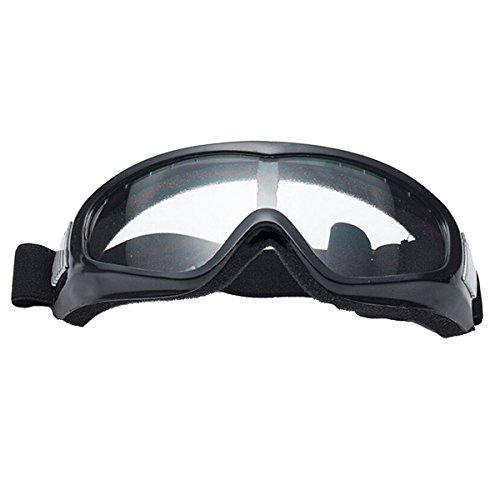 Butterme UV400 Schnee Ski Radfahren Fahrrad Motorrad Brille Sicherheit Schutz Glas Winddicht Anti-Beschlag Anti-Glare Linse mit elastischem Stirnband Transparent