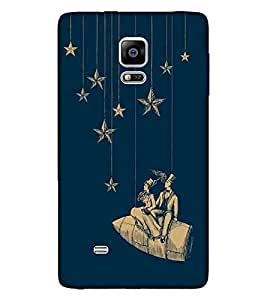 For Samsung Galaxy Note Edge :: Samsung Galaxy Note Edge N915FY N915A N915T N915K/N915L/N915S N915G N915D nice couple ( star, couple, star with couple, blue background, beautiful couple ) Printed Designer Back Case Cover By FashionCops