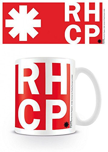 Set: Red Hot Chili Peppers, RHCP Logo Tazza Da Caffè Mug (9x8 cm) E 1 Sticker Sorpresa 1art1®