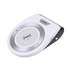 Aigoss Kit Vivavoce Bluetooth per Auto 4.1 con Controllo Vocale, ACCENSIONE AUTOMATICA da Sensore di Prossimità, Funziona con i GPS, Musica, Altoparlante per cellulari