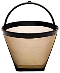 1 X THE ORIGINAL GOLDTONE BRAND Reusable Cone-style #2 4-8 Cup Coffee Filter with Handle