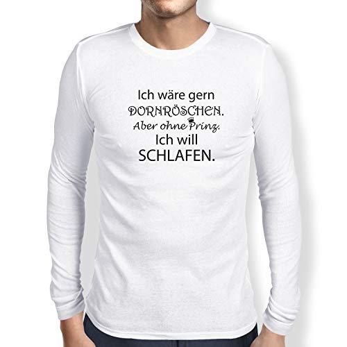 Texlab Dornröschen ohne Prinz - Herren Langarm T-Shirt, Größe XXL, ()