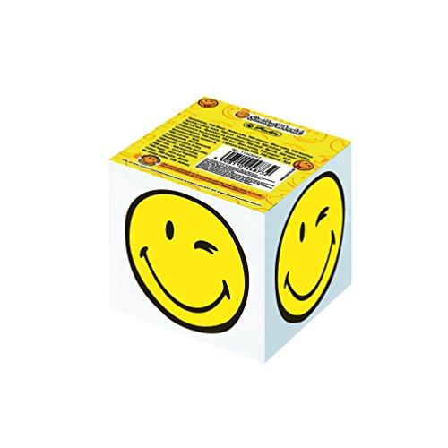 Herlitz 11245297 Notizklotz Smiley World, 8 x 8 x 7 cm, 700 Blatt geleimt