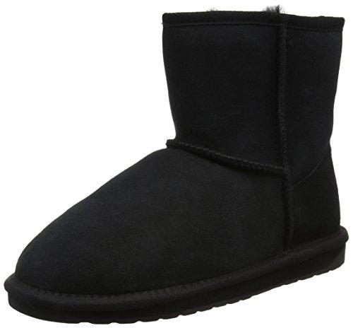 EMU Stinger Mini, Damen Bootsschuhe, Schwarz (Black), 37 EU (4 Damen UK) - Black Suede Slouch Boots