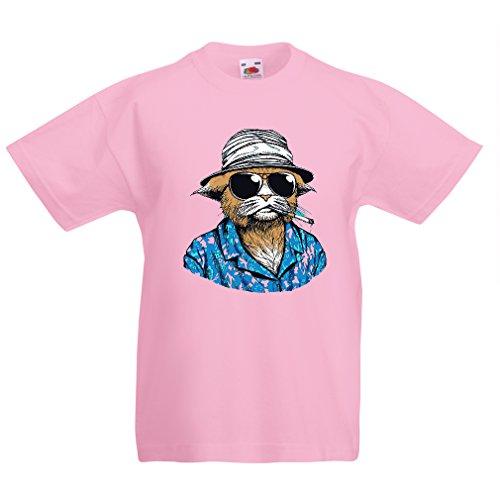 N4332K La camiseta de los niños Detective privado de la vendimia (5-6 years Rosado Multicolor)