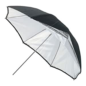 """Bowens 140cm (55"""") Silver/White Umbrella with removable black cover"""