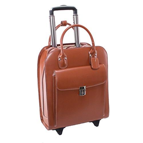 McKleinUSA 97694Leder Vertikaltasche Rädern Damen-Aktentasche für 15,4Laptop–Braun (Laptop-aktentasche Leder-wheeled)