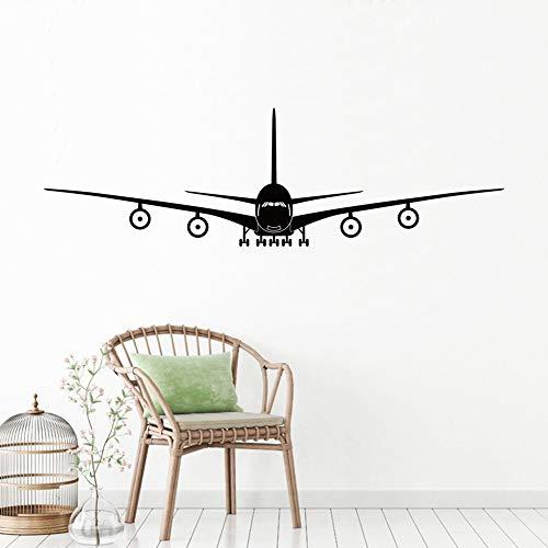fancjj Flugzeug-Wand-Aufkleber-Wand-Dekor-Flugzeug-Wand-Kunst-Abziehbild-Dekoration-Vinylaufkleber-entfernbare Flugzeug-Tapete