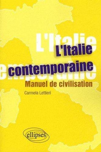 Book's Cover of LItalie contemporaine  manuel de civilisatioon