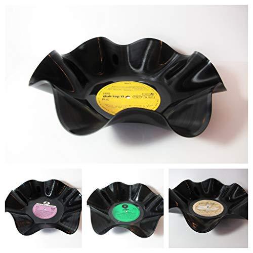 Schale aus Schallplatten - vers. Farben (Schale Farbe)