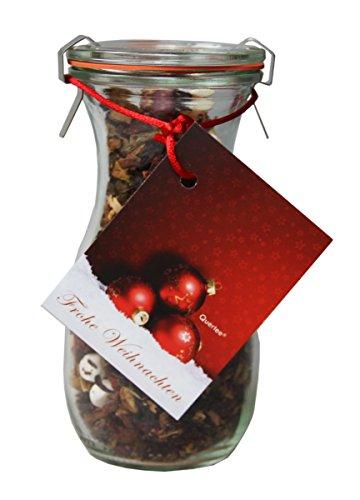 """Tee im Glas - Weihnachtstee Wintertee \""""Frohe Weihnachten\"""" in einer Weck® Flasche - 100 g Früchtetee"""