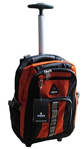 Schultrolley Rucksack Trolley Schulrucksack Ranzen verschiedene Farben (schwarz-orange)