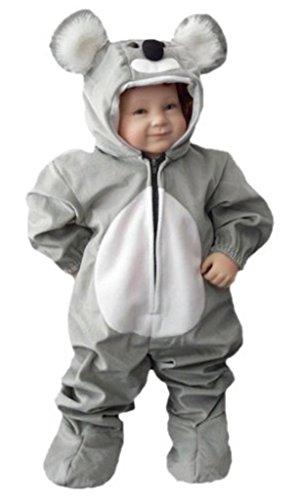 Kleinkind Waschbär Baby Kostüm - Koala-Bär Kostüm, J42/00 Gr. 92-98, für Klein-Kinder, Babies, Koala-Kostüme Koalas Kinder-Kostüme Fasching Karneval, Kinder-Karnevalskostüme, Kinder-Faschingskostüme, Geburtstags-Geschenk