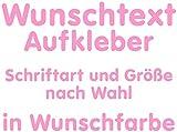 Samunshi Aufkleber Autoaufkleber Name Wunschname Sticker Wunschtext Personalisierbar variabel Hellrosa