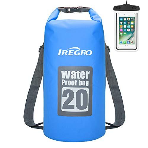 IREGRO Trockentasche Trockenbeutel Dry Bag Wasserdichter Brustbeutel Dokumententasche Handyhülle Wasserdichter Sack Packsack (B20L) -