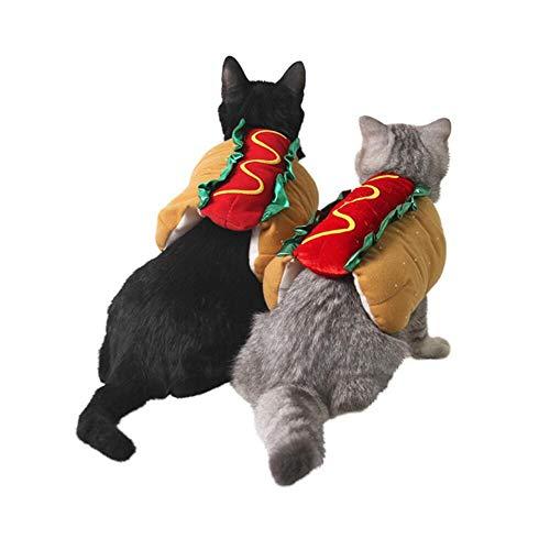Suministros De Mascotas De Halloween Burger Dog...