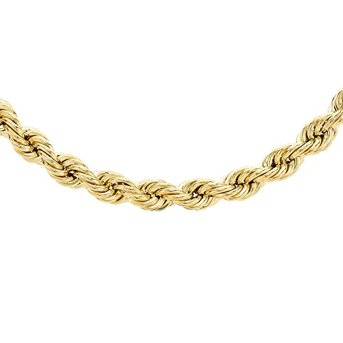 Carissima Gold 9ct Yellow Gold Hollow 120 Rope Chain Necklace of Length 46cm/18