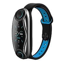 LT04 Fitness Bracelet Men Women Bluetooth Headphone Heart Rate Blood Pressure Monitor BT 5.0 Chip IP67 Waterproof Sport Smart Watchh for Android iOS