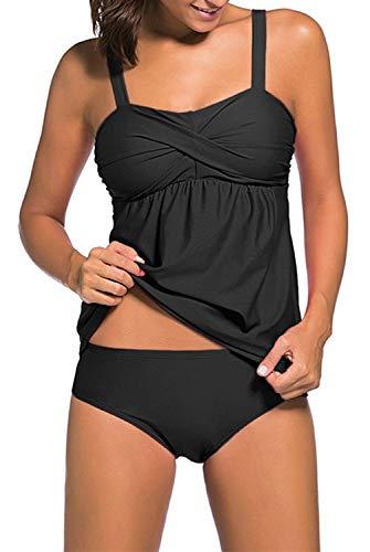 EMILYLE Mujeres Tank Top Deportivo Tankini Top Bikini