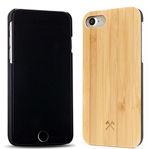 Woodcessories - EcoCase Classic - Premium Design Case, Cover, Hülle für das iPhone aus FSC zert. Holz (iPhone 7/ 8, Bambus/ schwarz)