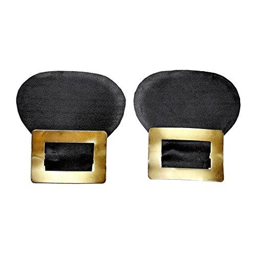 NET TOYS Hebilla de Zapatos | Hebilla Medieval de Calzados | Accesorio Disfraz Caballero | Adorno Zapatos Pirata