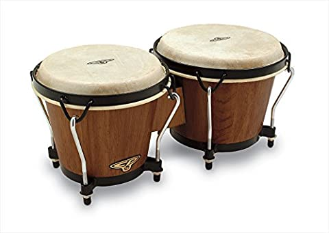 "Latin Percussion CP221-DW Bongos 6 3/4"" + 8"" Marron"
