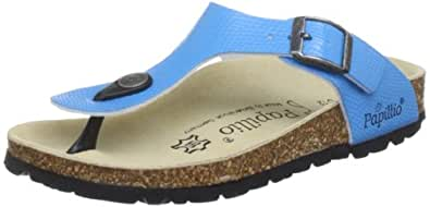 Papillio by Birkenstock Gizeh Blue Flip and Thong Sandal 204052 12 UK Junior, 30 EU