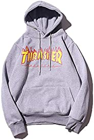 Thrasher Flame Magazine Hoodies Letter Print Sweatershirt Fashion Pullover for Mens Womens