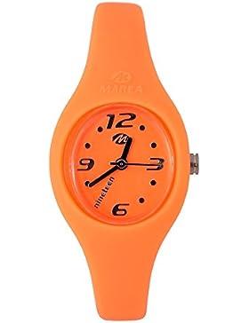 Marea farbenfrohe Unisex Nineteen Silikon Armbanduhr 14 cm mit Silikon Uhrband - hellorange