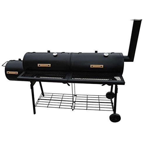 Tidyard Barbecue con Affumicatore,Barbecue a Carbonella da Campeggio Balcone,Nevada XL Nero
