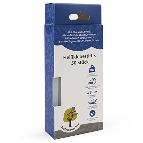 Heißklebesticks - 7 x 150 mm rund - Extra Power Klebstoff für gängige Heißklebepistolen zur sauberen Verklebung diverser Materialien - lösemittelfrei transparent schnelltrocknend ()
