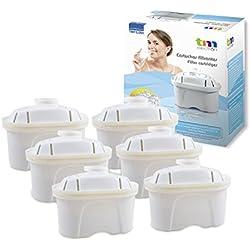 Pack de 12 meses para filtros de agua compatibles con las jarras Brita Maxtra, 6 filtros de agua para 60 días