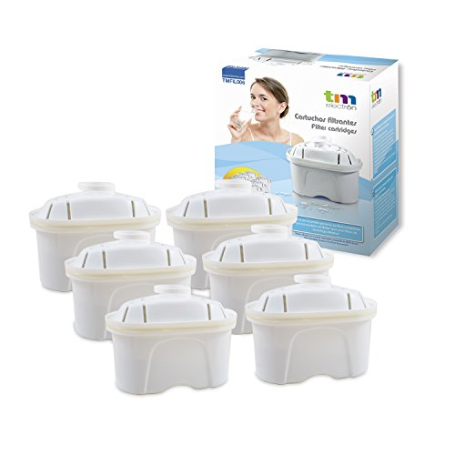 Pack de 12 meses para filtros de agua compatibles con las jarras Brita Maxtra,  6 filtros de agua...