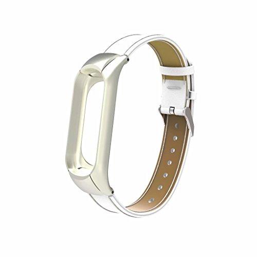 Schwarz Hunpta@ Uhrenarmb/änder f/ür Xiaomi Mi Band 3 Edelstahl Armband Ersatz Armband