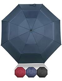 DORRISO Automático Abrir/Cerrar Paraguas Plegable Viajar Dosel Doble Construcción y Resistente al Viento Impermeable